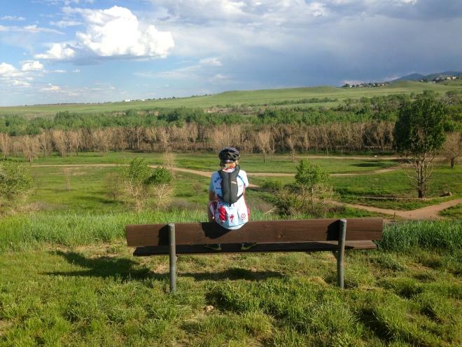 Taking in the scenery at Bear Creek Lake Park.